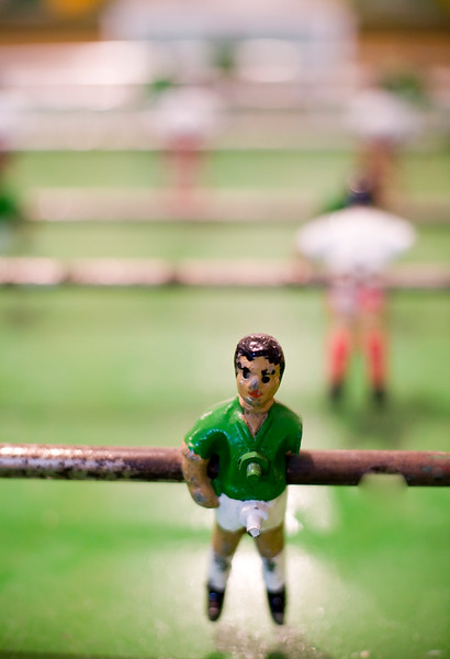 Figures of an old table football, Spain