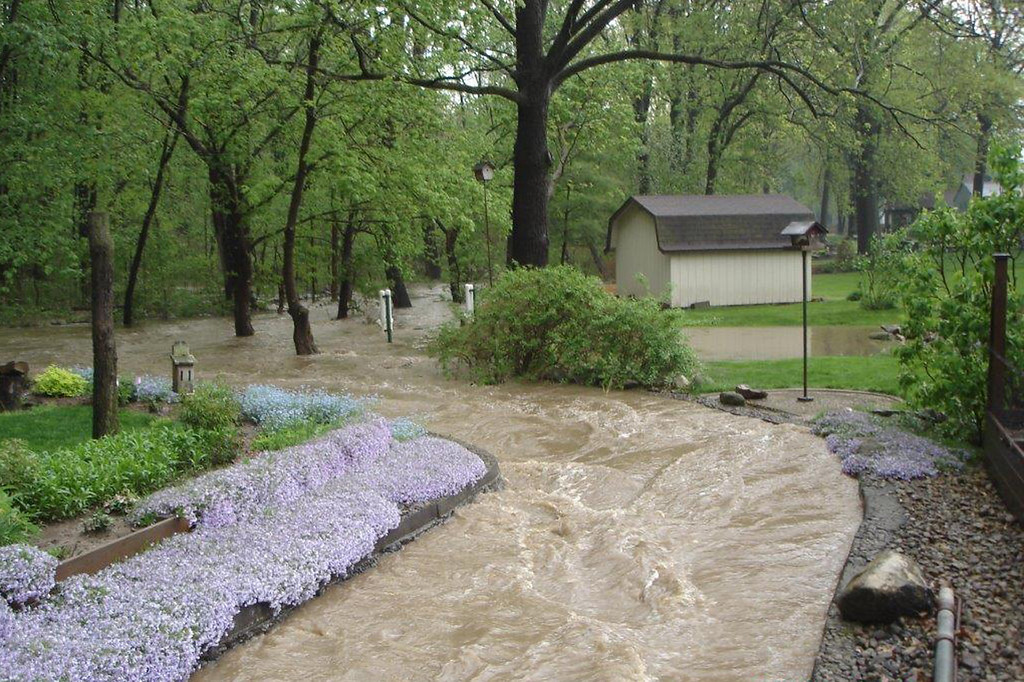 . Floodwaters through the Martin\'s run area of Washington Avenue, May 12, 2014.
