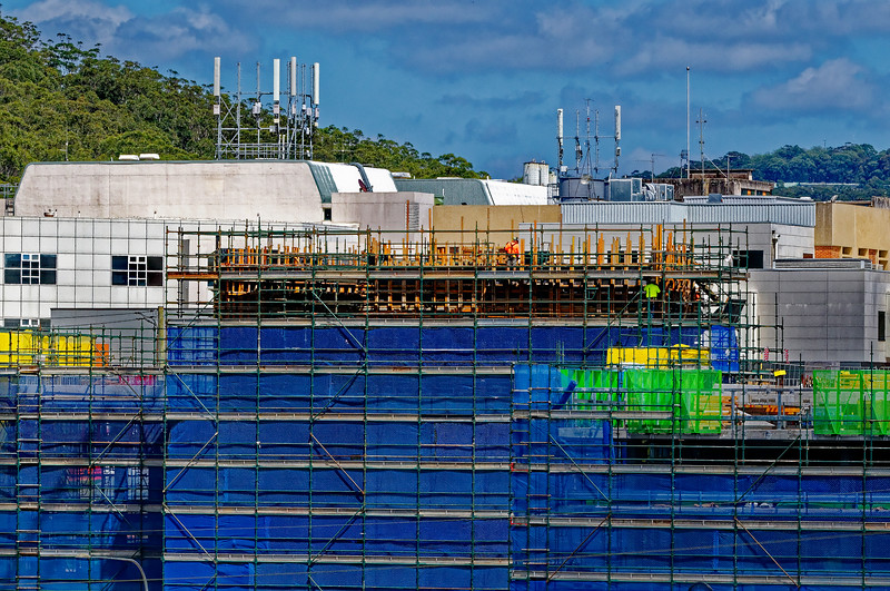 Gosford Hospital building progress H59ed October 2018.