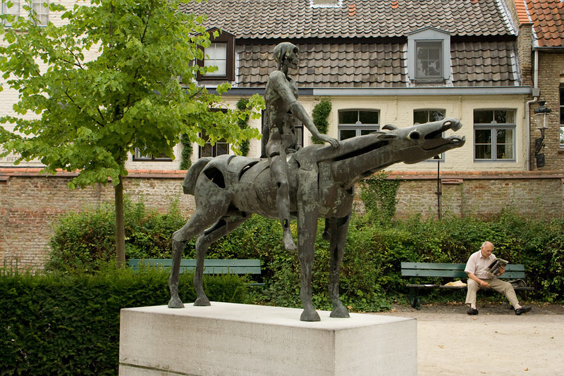 Bruges. One of the four horsemen. I think this one would be Famine.