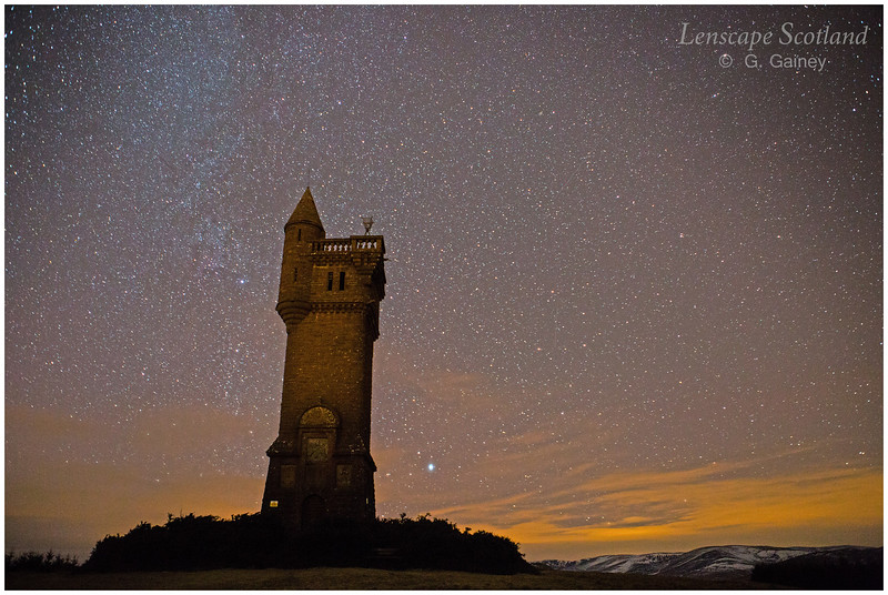 Airlie Tower starscape, Glen Prosen, Angus