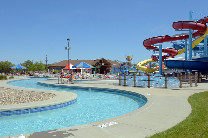 lazy river and slides