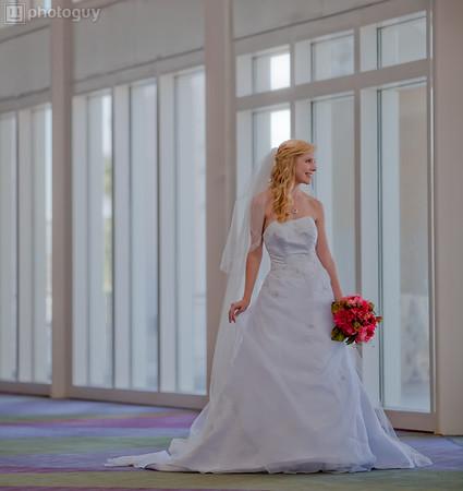 A beautiful bride with widow light