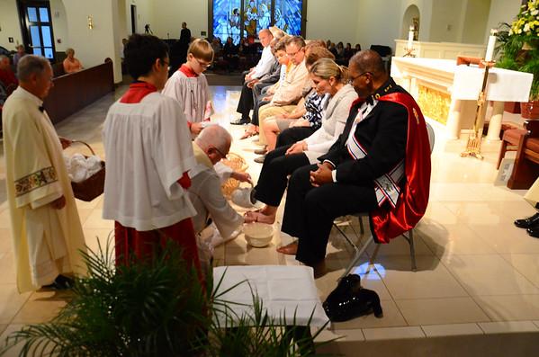 Holy Thursday Mass at Corpus Christi 2015