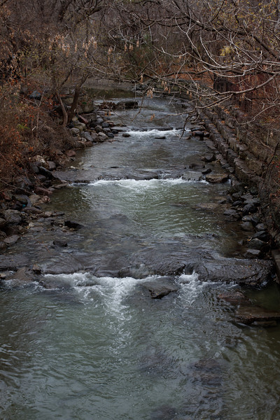 Mimico Creek from the Van Dusen Footbridge