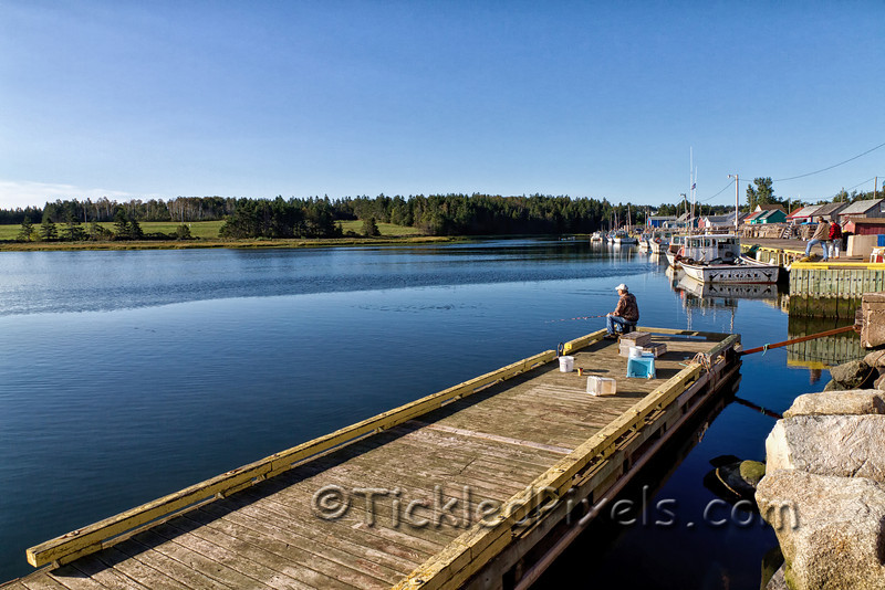 Fishing in North Rustico