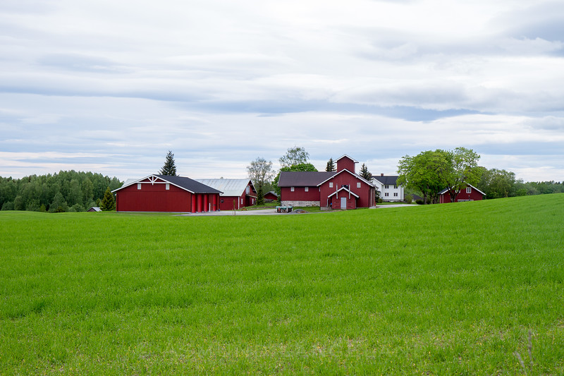 Moderne gårdstun