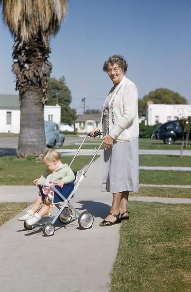 Anne and Grandma Robinson 1954