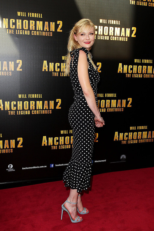 ". Kirsten Dunst arrives at the ""Anchorman 2: The Legend Continues\"" Australian premiere at The Entertainment Quarter on November 24, 2013 in Sydney, Australia.  (Photo by Lisa Maree Williams/Getty Images)"