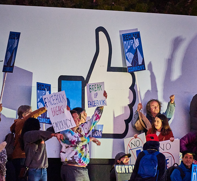 Protest at Facebook HQ