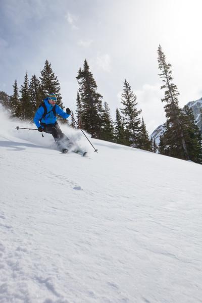 JACKSON HOLE, WY - 25 Short & Turkey Chute: Backcountry skiing with Exum Guides and Marmot testing Polartech Alpha