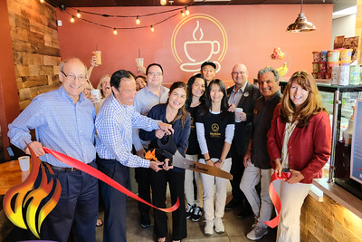073119 SR Ribbon Cutting @ Kamson Coffee