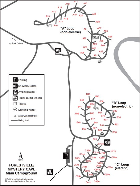 Forestville-Mystery Cave State Park (Campground Map)