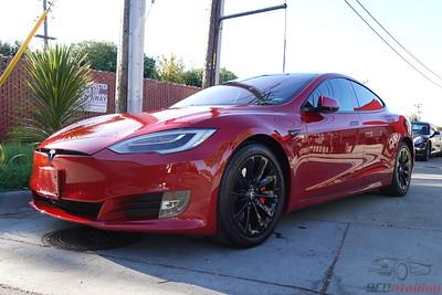 2019 Tesla Model S - Multi-Coat Red - Chrome Delete