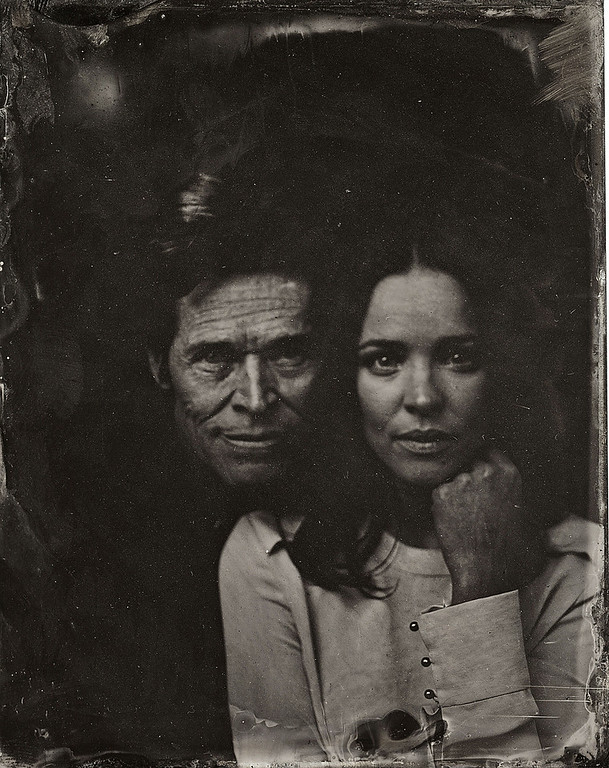 . Rachel McAdams and Williem Defoe pose for a tintype (wet collodion) portrait at The Collective and Gibson Lounge Powered by CEG, during the 2014 Sundance Film Festival in Park City, Utah. (Photo by Victoria Will/Invision/AP)