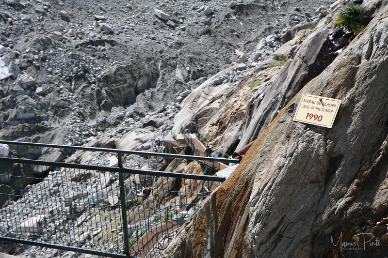 Mer de Glace has dropped several hundred meters in the past 2 decades