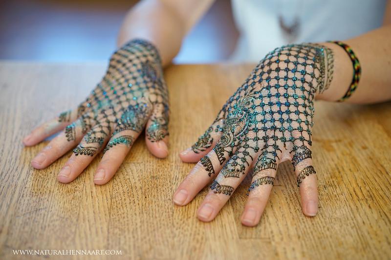 Henna with glitter