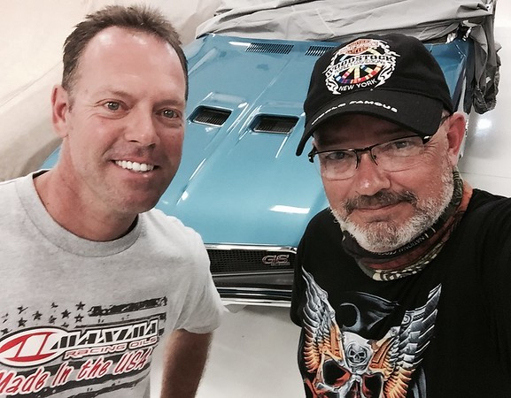 Met up with my old friend Jason Line and took a look at his very rare 1970 Buick GS Convertible. Jason is a four time winner of the NHRA Pro Stock Drag Racing Championships. Great seeing you again my friend and meeting your family.