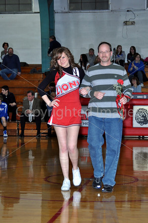 La Moille Senior Night Boys Basketball, Cheer Squad, Feb. 18, 2011