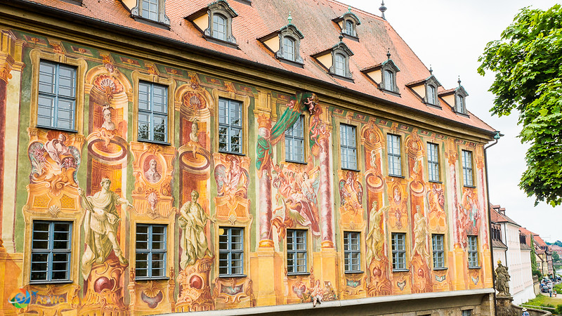 Side of Old Town Hall Bamberg, Germany