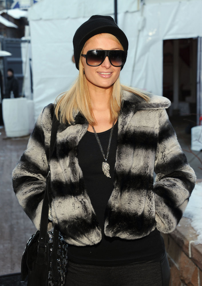 Description of . Paris Hilton attends Day 3 of Village At The Lift 2013 on January 20, 2013 in Park City, Utah.  (Photo by Dimitrios Kambouris/Getty Images for VATL)