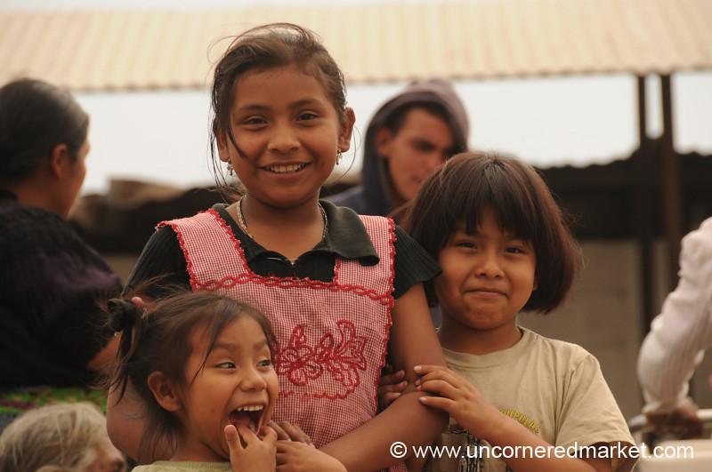 Guatemalan Girls at the Market - Antigua, Guatemala
