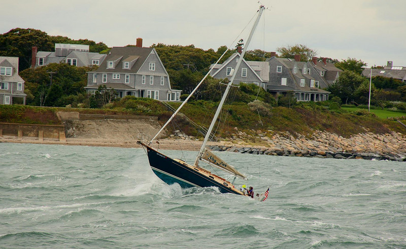 Remnants of a tropical storm gave boaters a wild ride on this day. Martha's Vineyard.