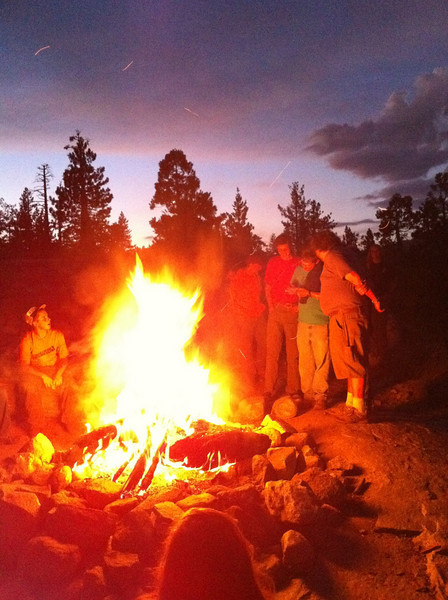An amazing last campfire on yuba ridge for the '10 Marin Sierra year.