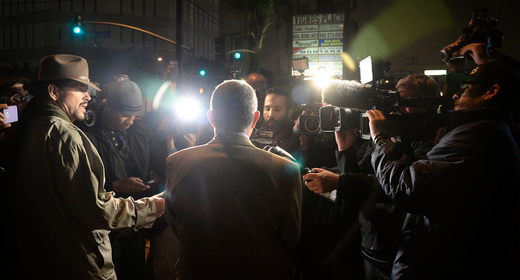 . LA County PR Steve Whitmore  tells the press that Murray was released from the Los Angeles Men\'s Central Jail early Monday morning by 12:01 am. Murray, 60, left from the back door of the jail in a police cruiser shortly after midnight local time. Murray\'s lawyer says he is not being released due to good behavior, but rather credit for time served. Murray was given an additional day of credit for every day he served.  In 2011, Murray was sentenced to four years in jail for involuntary manslaughter after he treated Michael Jackson with the powerful surgical anesthetic drug propofol. Los Angeles CA.October 28,2013. Photos by Gene Blevins/LA Daily News