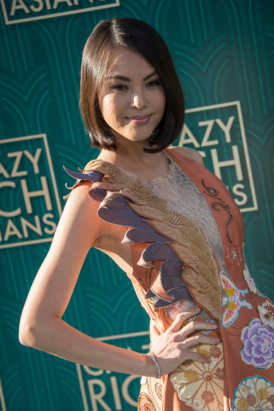 HOLLYWOOD, CA - AUGUST 07: Carmen Soo arrives at Warner Bros. Pictures' 'Crazy Rich Asians' Premiere at TCL Chinese Theatre IMAX on Tuesday, August 7, 2018 in Hollywood, California. (Photo by Tom Sorensen/Moovieboy Pictures)