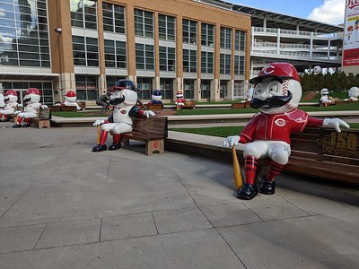 Mister Redlegs Benches - Great American Ball Park - Cincinnati - 27 Oct. '19