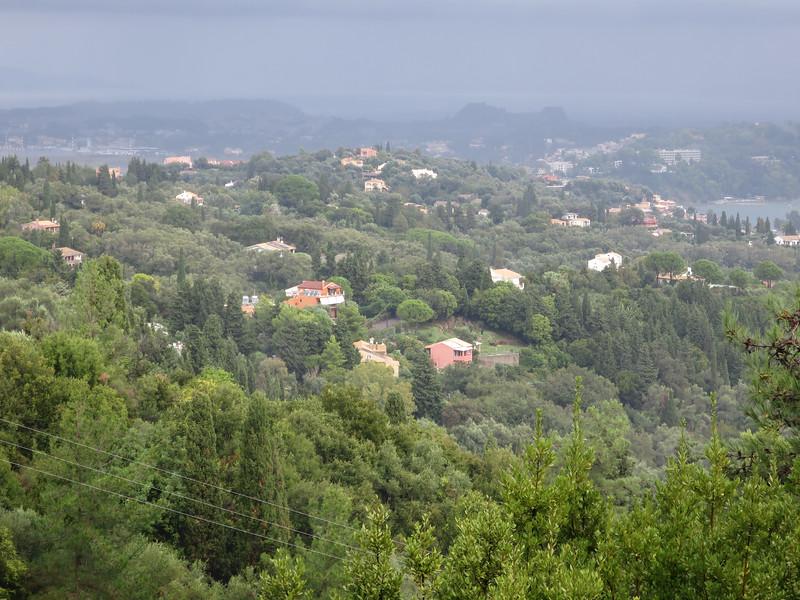 Uitzicht op oude fort Korfu stad