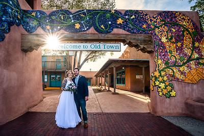 Old Town Plaza Albuquerque New Mexico September Wedding