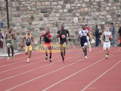 Boys 100 & 200 Prelims - 2012 MHSAA LP D2 T&F Finals