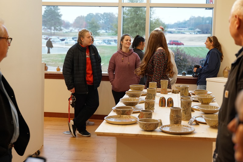 Leah Jancic's senior art show opening exhibit