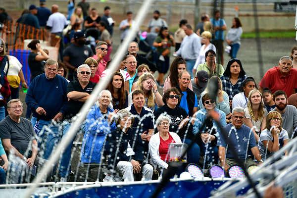9/14/2019 Mike Orazzi | StaffrPart of the crowd watching permformers during the Aquatic Acrobatic Show at the Berlin Fair on Saturday afternoon.