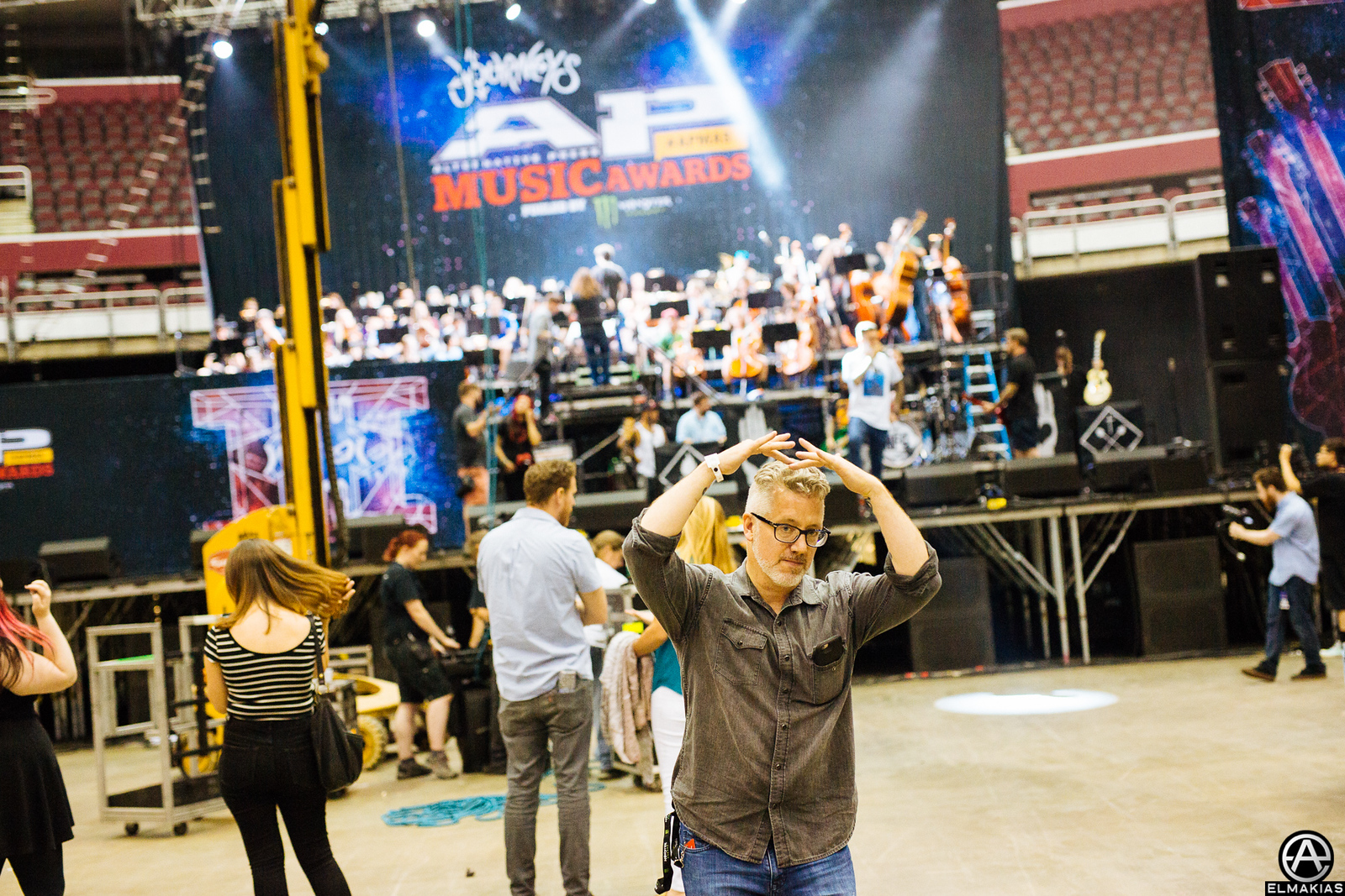 Mike Shea CEO & Founder of Alternative Press at rehearsals for the Alternative Press Music Awards 2015 by Adam Elmakias