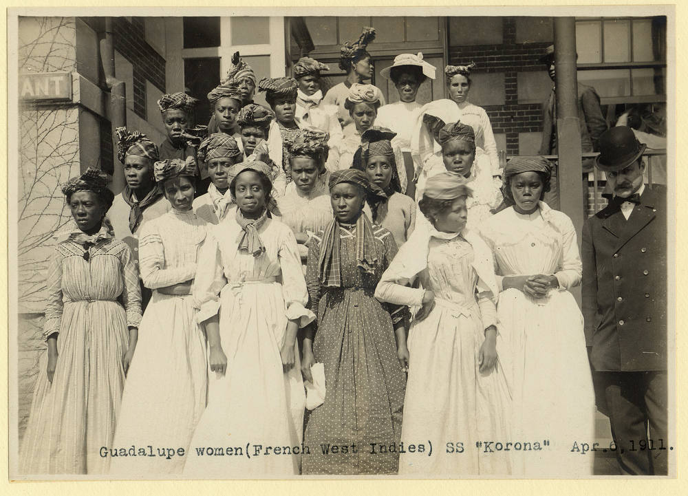 . Women from Guadalupe At Ellis Island on April 6th, 1911. (NPS)