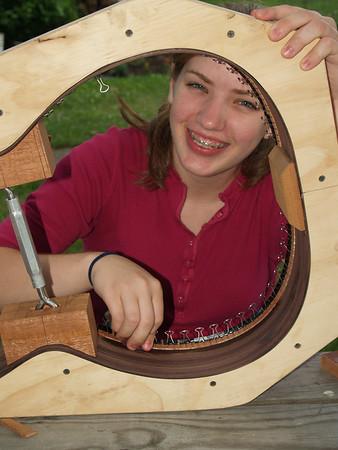 Lydia Building Her Guitar [v]