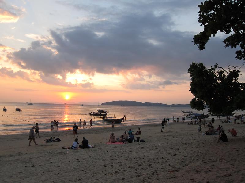 Ao Noang Beach Sunset