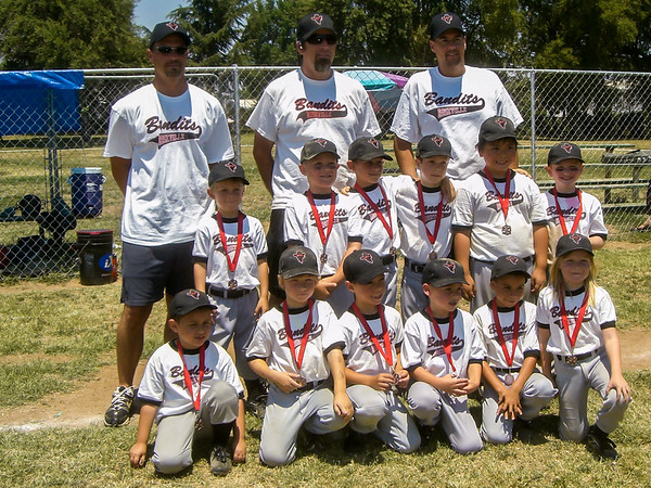 2008 Roseville Bandits 6U Baseball Tournaments