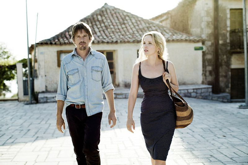 ". BEFORE MIDNIGHT: (Premieres) Director Richard Linklater reteams with stars Ethan Hawke and Julie Delpy for the third installment of this European romantic trilogy, begun with ""Before Sunrise\"" in 1995 and continuing with \""Before Sunset\"" in 2004. In the first, they were young people meeting and falling in love in Vienna. Then they were older and wiser, and walking around Paris. This time, they�re even older, more wistful and reuniting in Greece. If you�ve loved these characters before, you�re going to want to know what happens next."