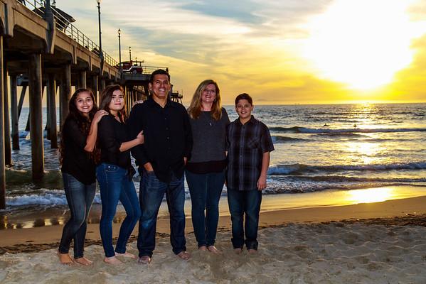 2016 Huete Family in Huntington Beach