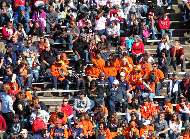 UTEP fans in the bleachers