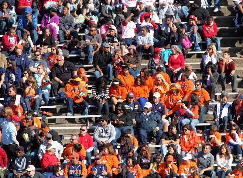 UTEP fans in the bleachers