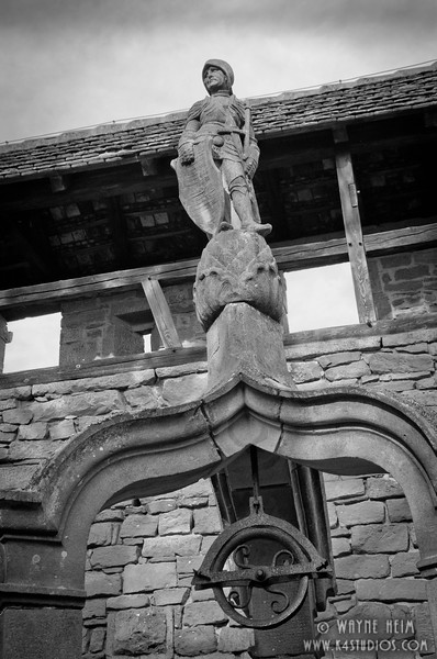 Knight on Top of  Display   Black and White Photography by Wayne Heim