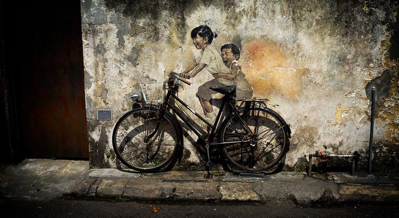 Girsl on Bike