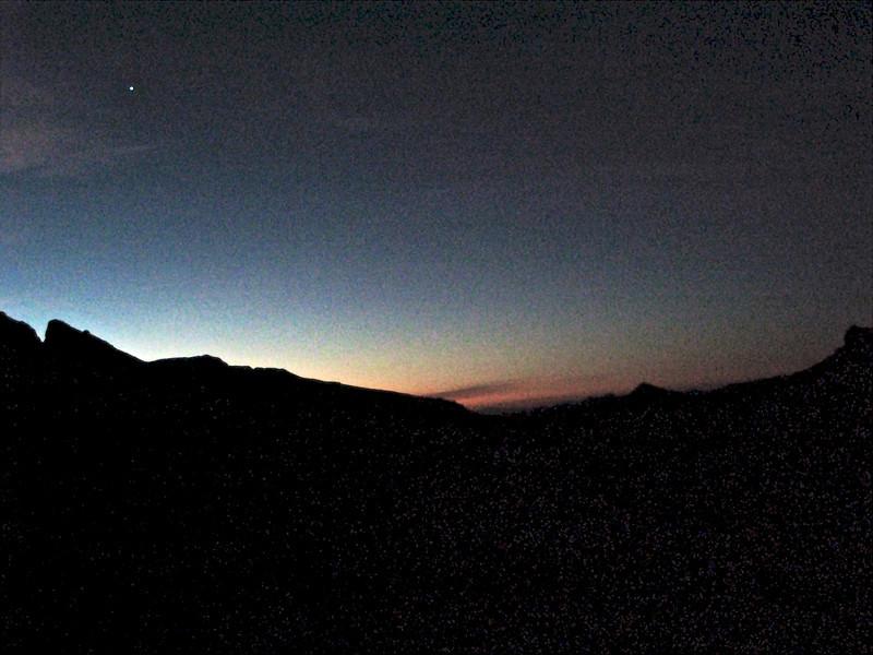 Sunrise from Vidal Wash