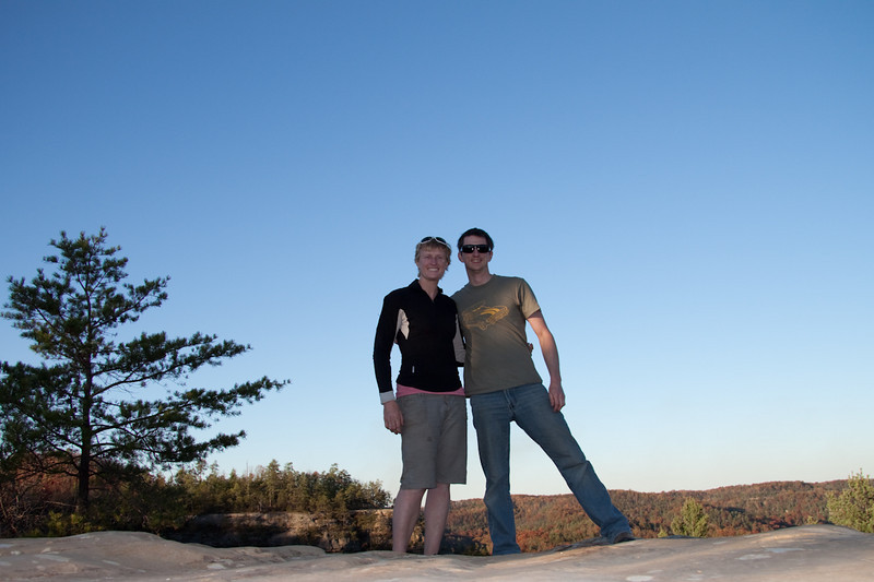 Jack's and I on top of natural bridge