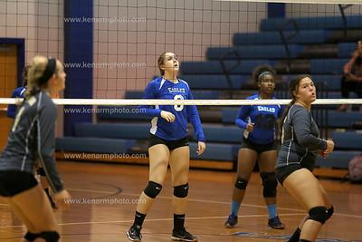 East Bladen 17 Clinton volleyball